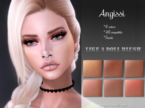 Sims 4 Like A Doll Blush by ANGISSI at TSR