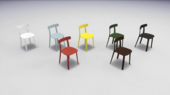 Sims 4 ALL PLASTIC CHAIR at Meinkatz Creations