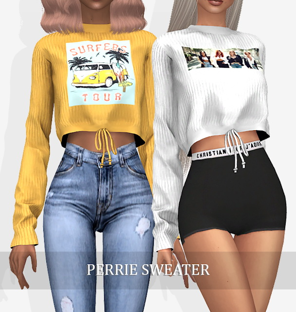 Sims 4 PERRIE SWEATER (P) at Grafity cc