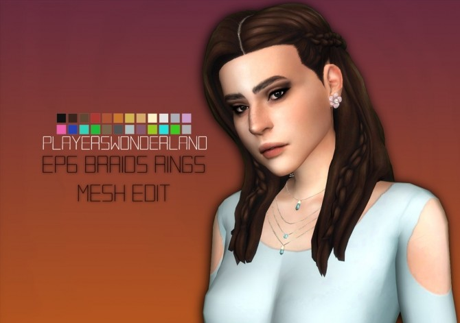EP06 BraidsRings Mesh edit at PW's Creations image 1556 670x471 Sims 4 Updates