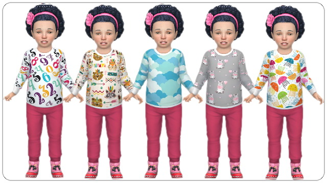Sims 4 Toddlers Shirts Misc at Annett's Sims 4 Welt