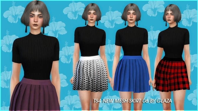 Skirt 06 at All by Glaza image 1602 670x377 Sims 4 Updates