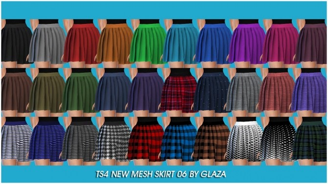 Skirt 06 at All by Glaza image 1614 670x377 Sims 4 Updates