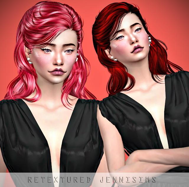 Sims 4 Newsea Sunset Glow Hair retexture at Jenni Sims