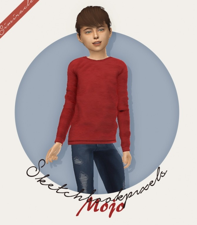 Sims 4 Sketchbookpixels Mojo 3T4 sweater for kids at Simiracle