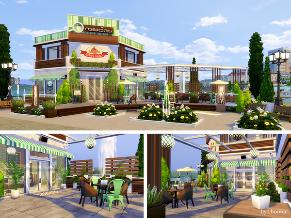 Sims 4 Eco Cafe by Lhonna at TSR