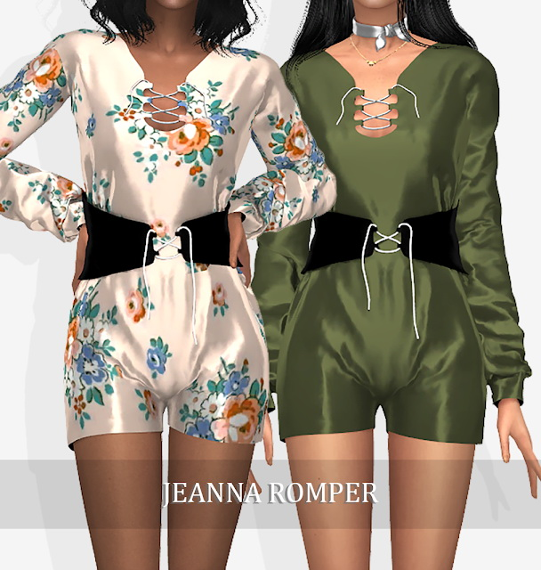 Sims 4 JEANNA ROMPER (P) at Grafity cc
