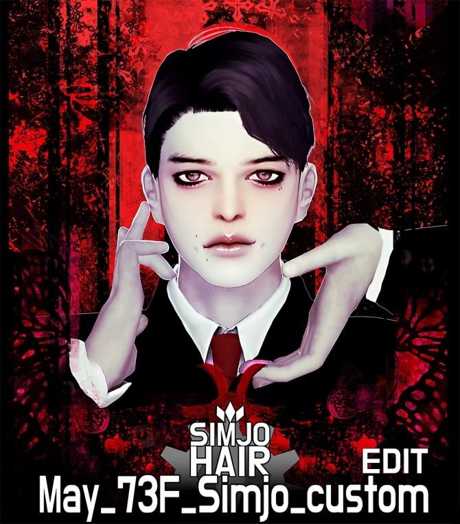 Sims 4 May 73F custom hair edit at Kim Simjo