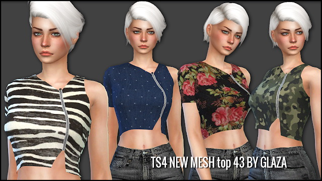 Sims 4 Top 43 at All by Glaza