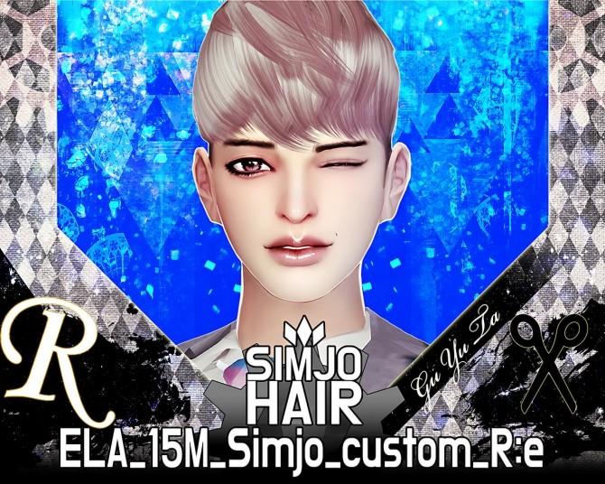 Sims 4 ELA(May) 15M custom hair edit at Kim Simjo