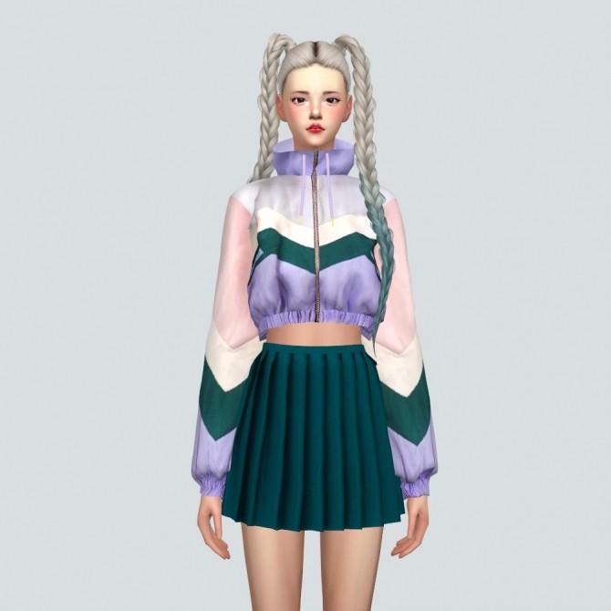 Sims 4 Crop Windbreaker at Marigold