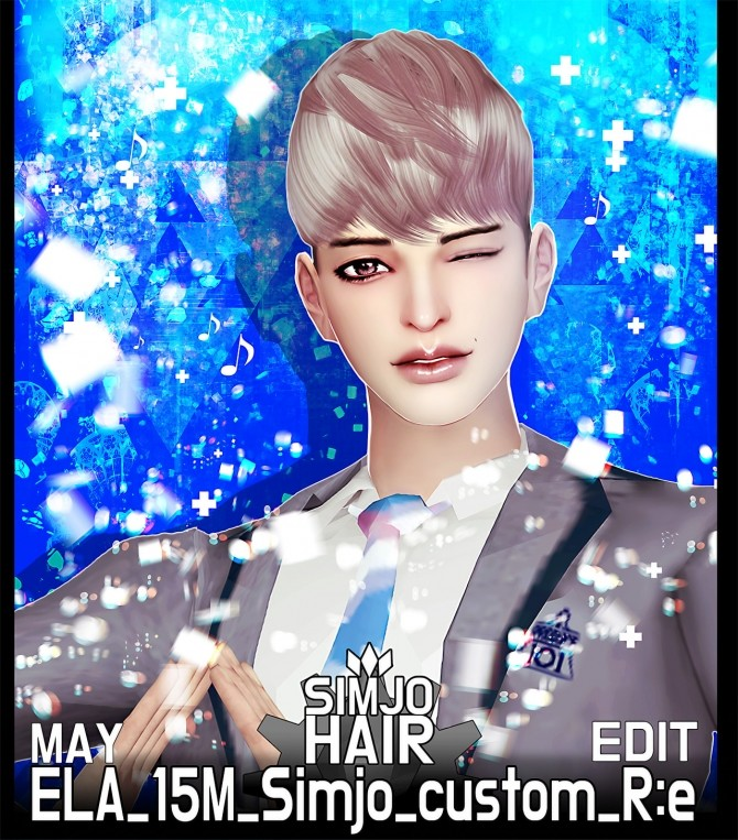 ELA(May) 15M custom hair edit at Kim Simjo image 1753 670x763 Sims 4 Updates