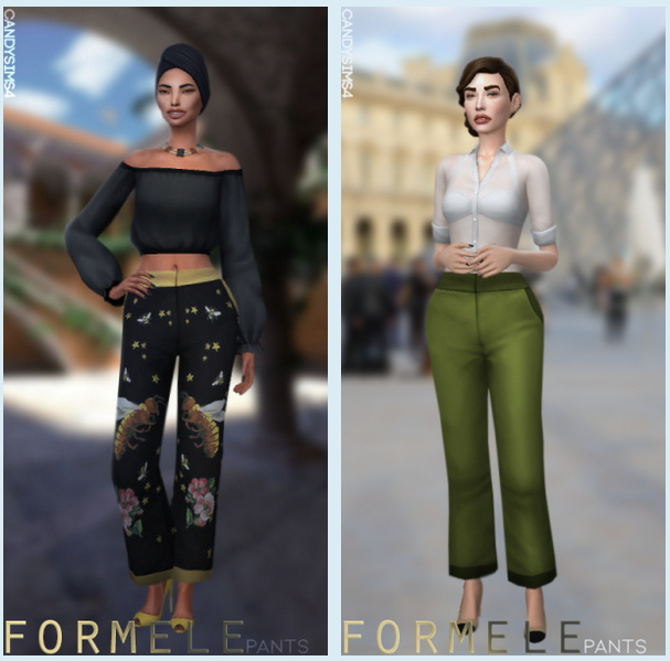FORMELE PANTS at Candy Sims 4 image 1761 Sims 4 Updates