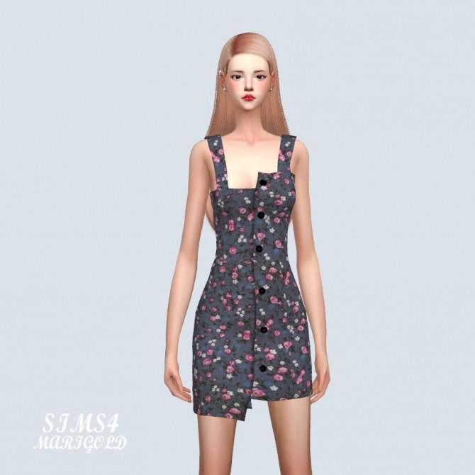 Sims 4 Uneven Mini Dress at Marigold