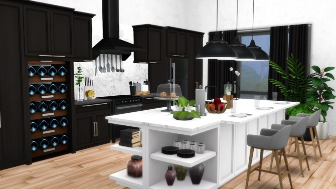 Mina Kitchen Contemporary Shaker Style Updated at Simsational Designs image 1792 670x377 Sims 4 Updates