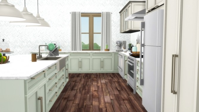 Mina Kitchen Contemporary Shaker Style Updated at Simsational Designs image 1802 670x377 Sims 4 Updates