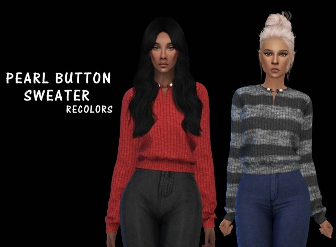 Sims 4 Pearl Button Sweater at Leo Sims