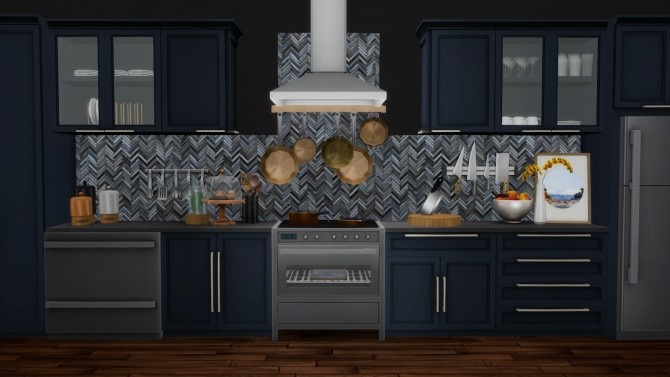 Mina Kitchen Contemporary Shaker Style Updated at Simsational Designs image 1814 670x377 Sims 4 Updates