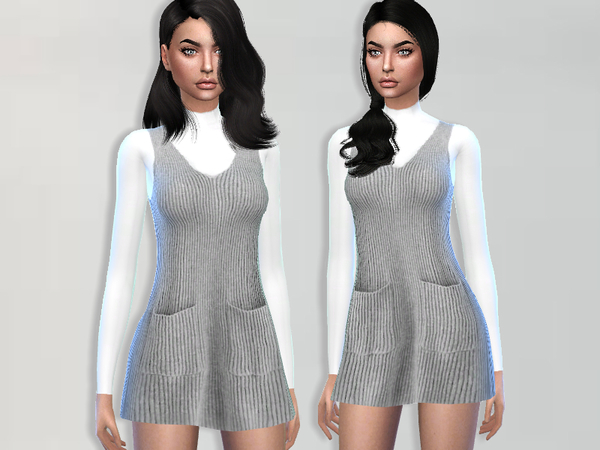 Sims 4 Wool Dress by Puresim at TSR
