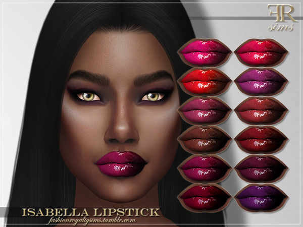 Sims 4 FRS Isabella Lipstick by FashionRoyaltySims at TSR