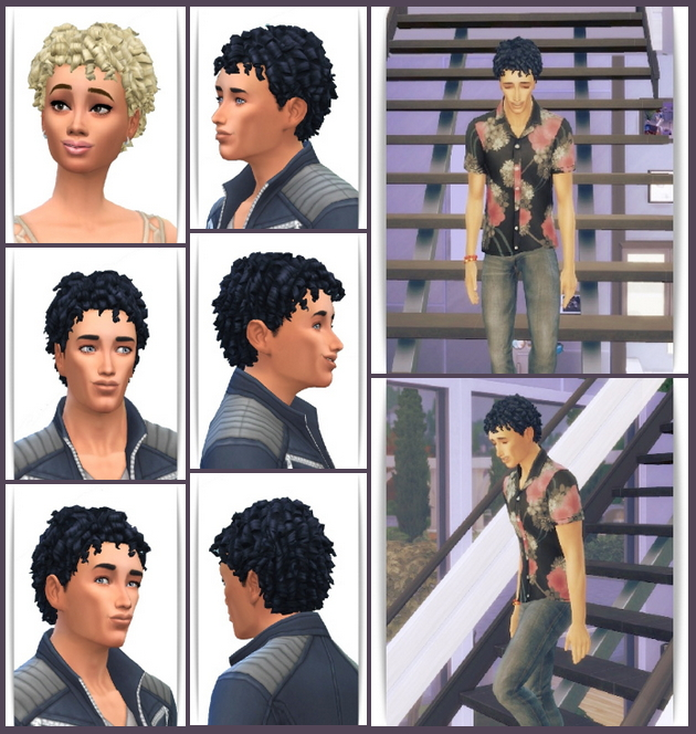 Sims 4 Shorty Curls for Her&Him at Birksches Sims Blog
