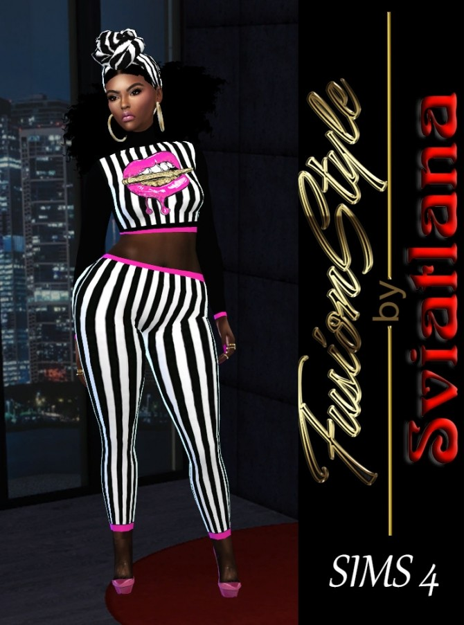 Sims 4 Top & Leggings at FusionStyle by Sviatlana