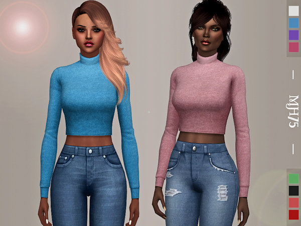 Sims 4 Iggy Sweater by Margeh 75 at TSR