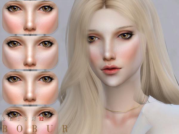 Sims 4 Blush 12 by Bobur3 at TSR