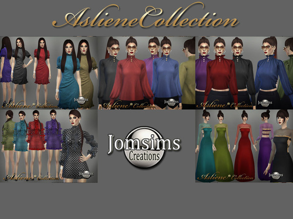 Sims 4 Asliene dress 1 by jomsims at TSR