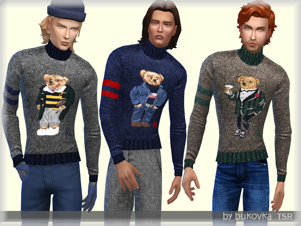 Sims 4 Turtleneck Sweater by bukovka at TSR