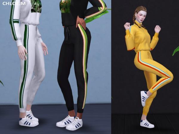 Sims 4 Sports wear Pants by ChloeMMM at TSR