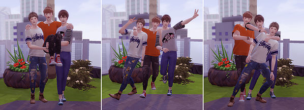 Combination pose B at A luckyday image 19210 Sims 4 Updates