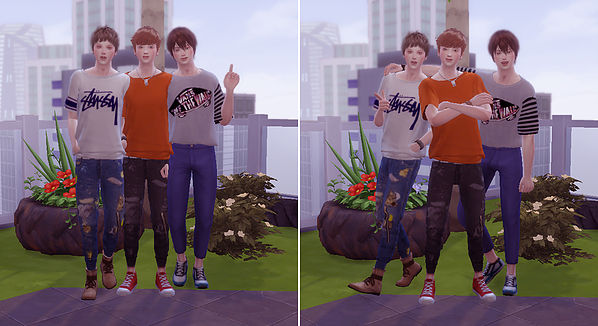 Combination pose B at A luckyday image 1938 Sims 4 Updates