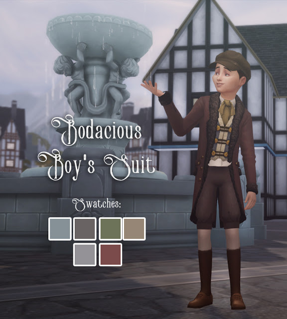 Bodacious Boys Suit at Historical Sims Life image 1981 Sims 4 Updates