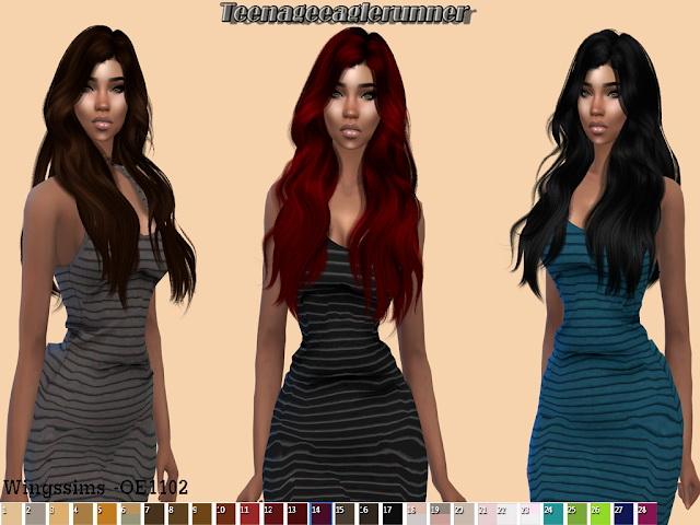 Sims 4 WINGS HAIR OE1102 Recolor at Teenageeaglerunner