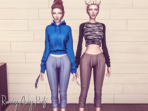 Sims 4 Running Away Pants by Genius666 at TSR