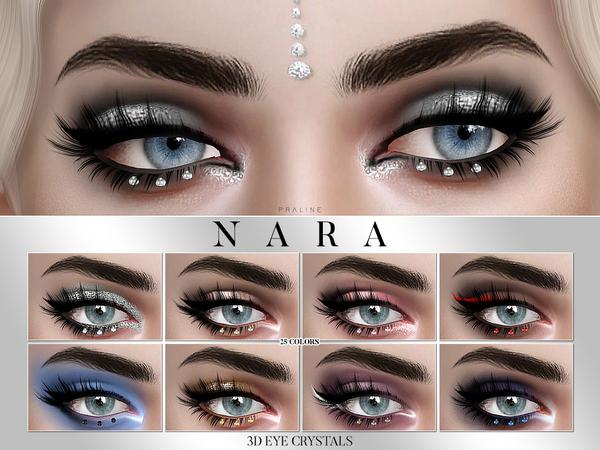 Sims 4 Nara 3D Eye Crystal Glitter by Pralinesims at TSR