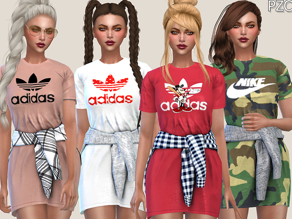 Sporty Dress by Pinkzombiecupcakes at TSR image 2012 Sims 4 Updates