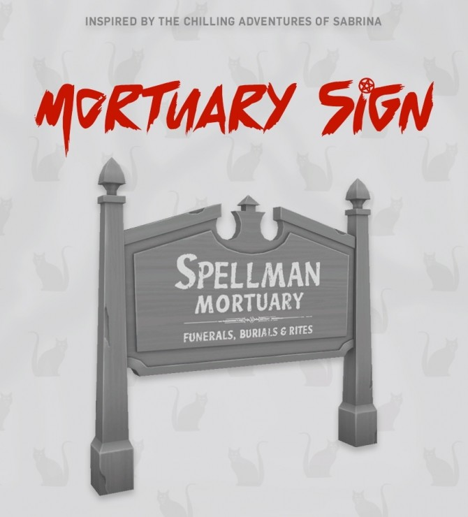 Spellman Mortuary Sign at SimPlistic image 201 p1 670x740 Sims 4 Updates