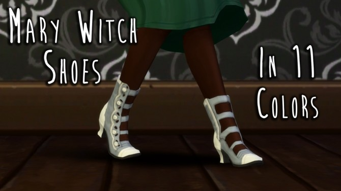 Sims 4 Cunning Witch's Hat & Mary Witch Shoes at Teanmoon