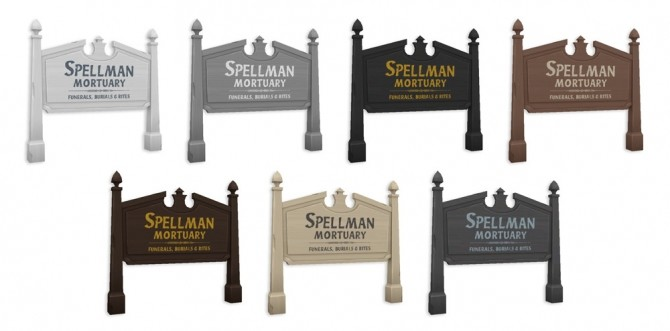 Spellman Mortuary Sign at SimPlistic image 2022 670x331 Sims 4 Updates