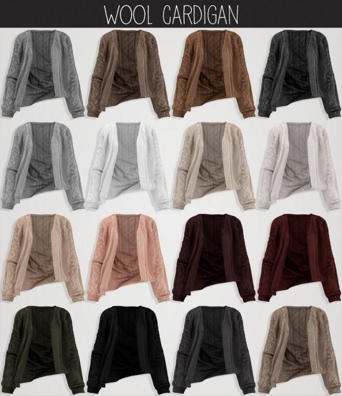 V Neck bodysuit & Wool cardigan at Elliesimple image 2033 670x776 Sims 4 Updates