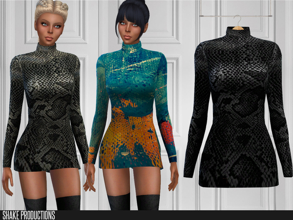 Sims 4 201 Dress by ShakeProductions at TSR