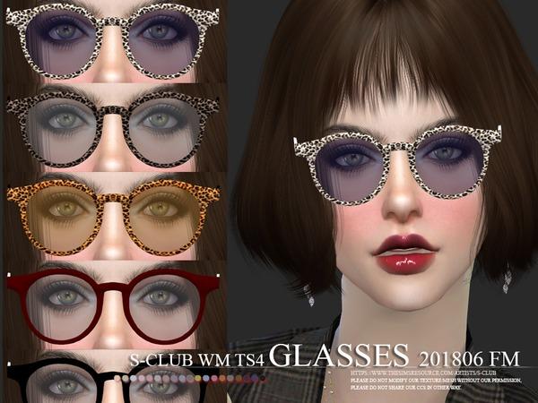 Sims 4 Glasses FM 201806 by S Club WM at TSR