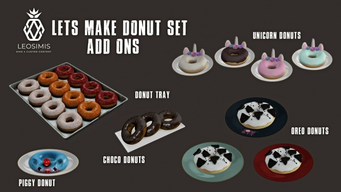 Lets Make Donut Pt.2 (P) at Leo Sims image 205 670x377 Sims 4 Updates