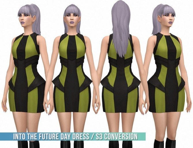 Into the Future Day Dress S3 Conversion at Busted Pixels image 207 670x513 Sims 4 Updates