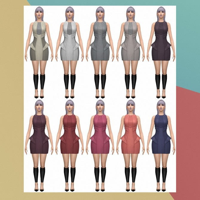 Into the Future Day Dress S3 Conversion at Busted Pixels image 208 670x670 Sims 4 Updates