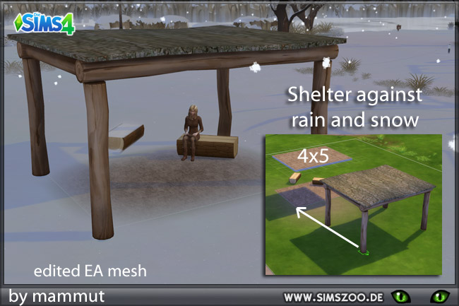 Shelter Treelogs by mammut at Blacky's Sims Zoo image 2081 Sims 4 Updates
