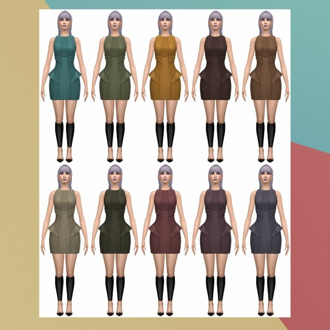 Into the Future Day Dress S3 Conversion at Busted Pixels image 209 670x670 Sims 4 Updates