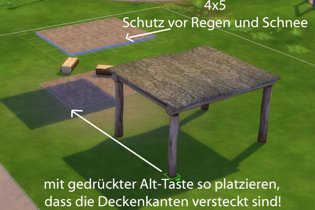 Shelter Treelogs by mammut at Blacky's Sims Zoo image 2091 Sims 4 Updates